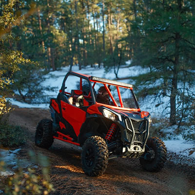 The 2019 Can-Am Maverick Sport family of high-performance side-by-side vehicles offers exceptional handling and control.