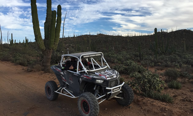 Desert racing UTV in the Baja 1000.