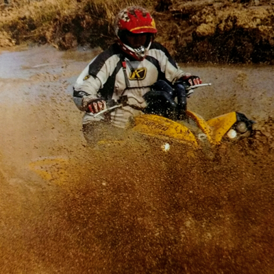 Mike Battenfelder is not only the organizer of the Henry Battenfelder Memorial ATV Rodeo, he's also a participant.