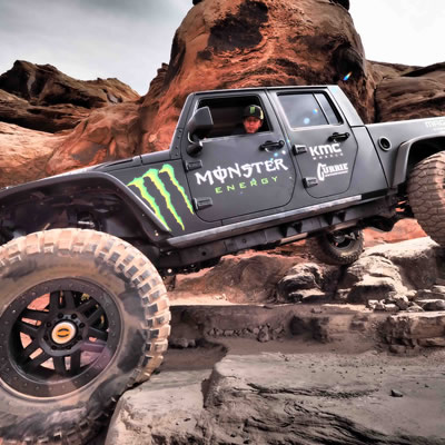 Picture of Monster Energy truck.