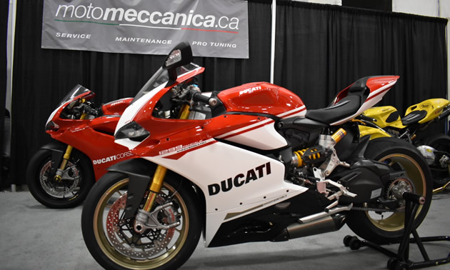A customized Panigale at the Moto Meccanica booth.