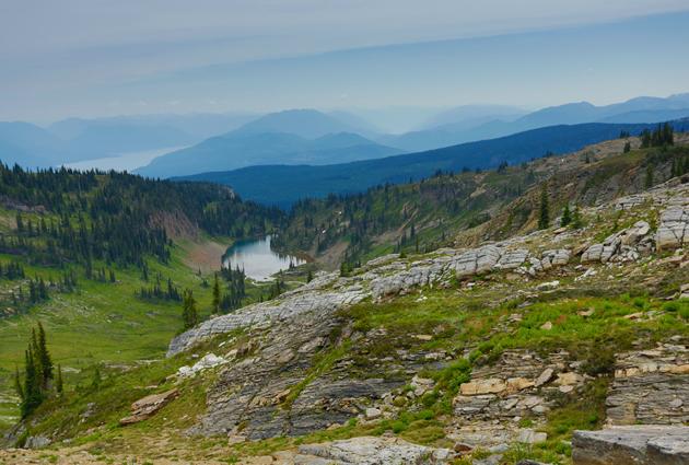 A small, alpine lake.