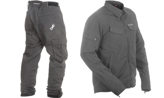 Grey Pilot Jacket and Pants from Motorfist for ATV and UTV riders.