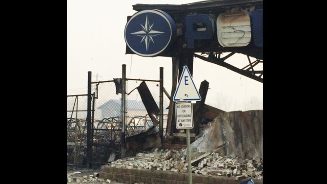 Four Seasons Power Sports destroyed by Fort McMurray wildfire.