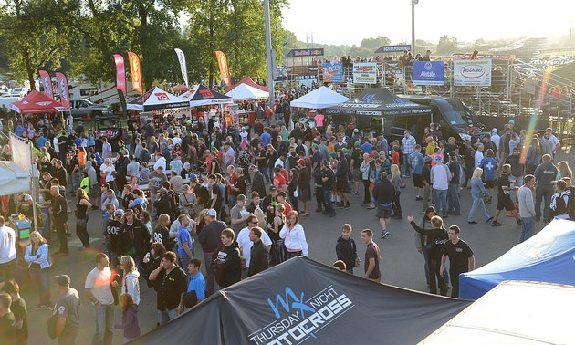 Portland International Raceway crowd scene.