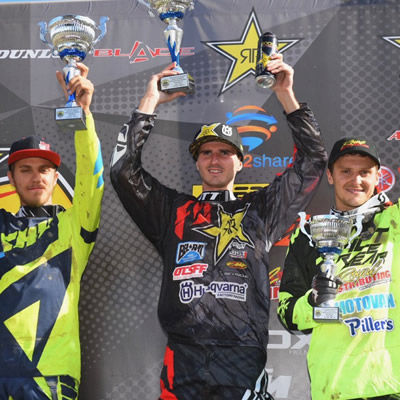 Christophe Pourcel takes the overall win at round one of the Rockstar Energy Canadian MX Nationals.