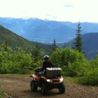 Toby Creek trail on way to Paradise Mine.