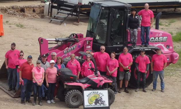 Members of the Eastman ATV Association at the 2017 Ride for Mom.