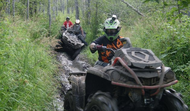 Quadding in Whitecourt, Alberta
