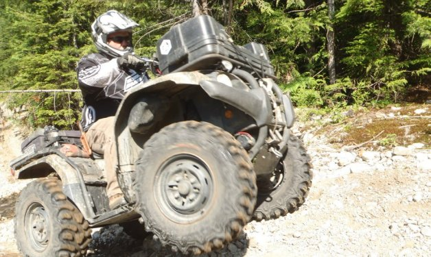 This is on a trail that is in behind the Stawamus Chief in Squamish, B.C. There is a forest service road that takes you from Squamish to the end of Indian Arm in Port Moody. Very cool ride.