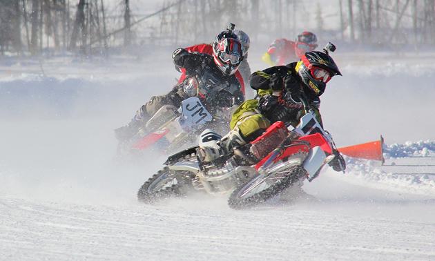 Racing at Stake Lake.