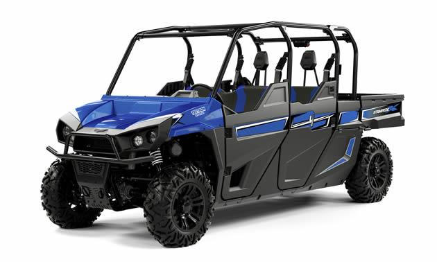 Blue Textron Offroad Stampede side by side.