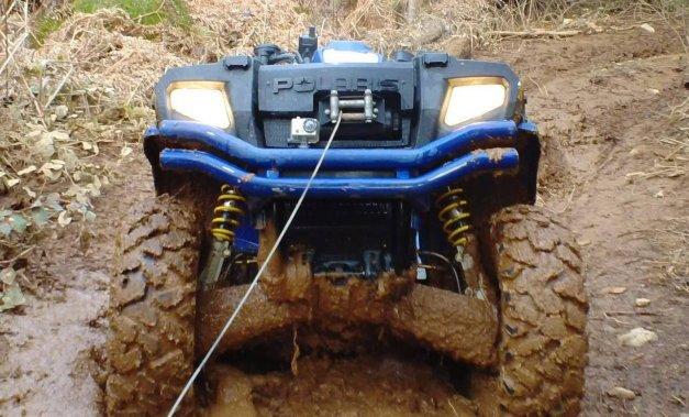ATV stuck in mud