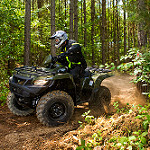 Suzuki 2017 KingQuad 750AXi action shot