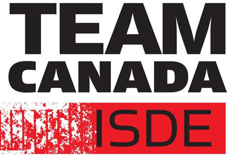 Red and black logo for Team Canada ISDE.