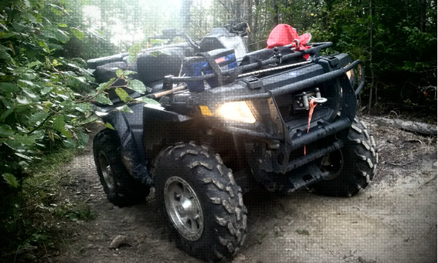 Trevor Schell's current ride is a Polaris 800 Sportsman ATV.