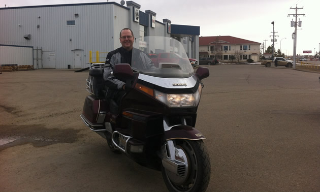 Troy's current ride is a 1989 GL1500 GoldWing.