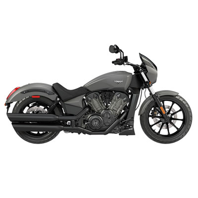 The 2017 Victory Octane cruiser in black matte finish.