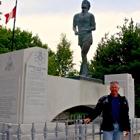 Man in front of terry Fox memorial