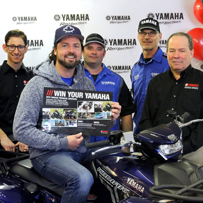Kevin Higney, winner of the 'Win Your Yamaha' contest.
