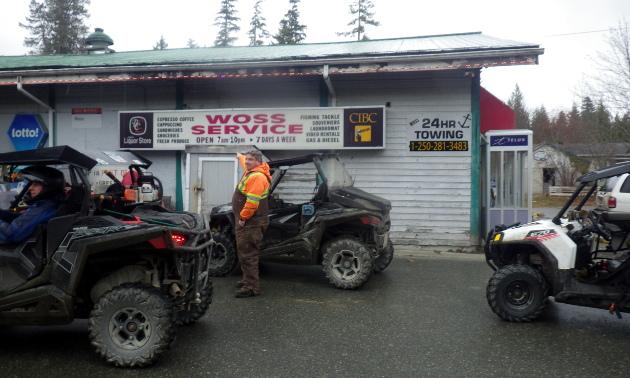 ATVers at Wozz Service.