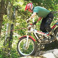 A man on a trials bike.